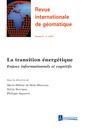 Couverture de l'ouvrage Revue internationale de géomatique Volume 27 N° 1/Janvier-Mars 2017
