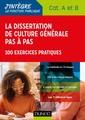 Couverture de l'ouvrage La dissertation de culture générale pas à pas - Catégories A et B