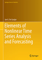 Couverture de l'ouvrage Elements of Nonlinear Time Series Analysis and Forecasting