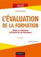 Couverture de l'ouvrage L'évaluation de la formation (2° Éd.)