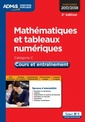Couverture de l'ouvrage Mathématiques et tableaux numériques - Cours et entraînement - Catégorie C