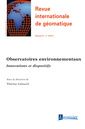Couverture de l'ouvrage Revue internationale de géomatique Volume 27 N° 3/Juillet-Septembre 2017