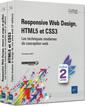 Couverture de l'ouvrage Responsive Web Design, HTML5 et CSS3 (coffret 2 livres)