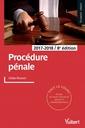Couverture de l'ouvrage Procédure pénale 2017-2018