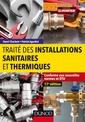 Couverture de l'ouvrage Traité des installations sanitaires et thermiques