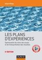 Couverture de l'ouvrage Les plans d'expériences