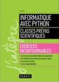 Couverture de l'ouvrage Informatique avec Python - Classes prépas scientifiques