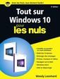 Couverture de l'ouvrage Tout sur windows 10 pour les nuls