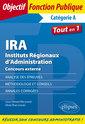 Couverture de l'ouvrage IRA - Instituts Régionaux d'Administration - Concours externe