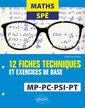 Couverture de l'ouvrage Maths Spé - 12 fiches techniques et exercices de base