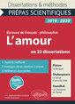 Couverture de l'ouvrage L'amour en 23 dissertations