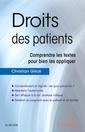 Couverture de l'ouvrage Droits des patients