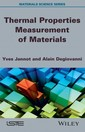 Couverture de l'ouvrage Thermal Properties Measurement of Materials