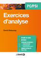 Couverture de l'ouvrage Exercices d'analyse PC/PSI