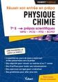 Couverture de l'ouvrage Réussir son entrée en Prépas. Physique-Chimie