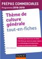 Couverture de l'ouvrage Thème de culture générale - Tout-en-fiches