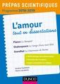 Couverture de l'ouvrage L'amour tout en dissertations