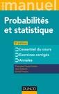 Couverture de l'ouvrage Mini Manuel - Probabilités et statistique