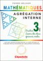 Couverture de l'ouvrage Agrégation interne de mathématiques