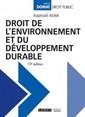 Couverture de l'ouvrage Droit de l'environnement et du développement durable