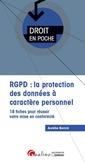Couverture de l'ouvrage RGPD : la protection des données à caractère personnel