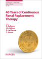 Couverture de l'ouvrage 40 Years of Continuous Renal Replacement Therapy