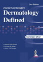 Couverture de l'ouvrage Pocket Dictionary Dermatology Defined