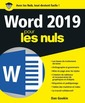 Couverture de l'ouvrage Word 2019 pour les nuls