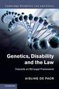 Couverture de l'ouvrage Genetics, Disability and the Law