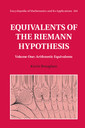 Couverture de l'ouvrage Equivalents of the Riemann Hypothesis: Volume 1, Arithmetic Equivalents