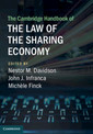 Couverture de l'ouvrage The Cambridge Handbook of the Law of the Sharing Economy