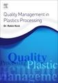 Couverture de l'ouvrage Quality Management in Plastics Processing