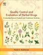 Couverture de l'ouvrage Quality Control and Evaluation of Herbal Drugs