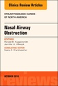 Couverture de l'ouvrage Nasal Airway Obstruction, An Issue of Otolaryngologic Clinics of North America