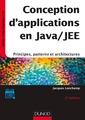 Couverture de l'ouvrage Conception d'applications en java/jee - 2e ed. - principes, patterns et architectures