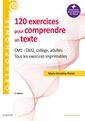 Couverture de l'ouvrage 120 exercices pour comprendre un texte