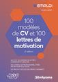 Couverture de l'ouvrage 100 modeles de cv et 100 lettres de motivation