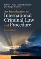 Couverture de l'ouvrage An Introduction to International Criminal Law and Procedure