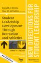 Couverture de l'ouvrage Student Leadership Development Through Recreation and Athletics
