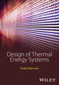 Couverture de l'ouvrage Design of Thermal Energy Systems