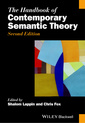 Couverture de l'ouvrage The Handbook of Contemporary Semantic Theory