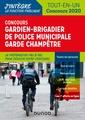 Couverture de l'ouvrage Concours Gardien-brigadier de police municipale - Garde champêtre
