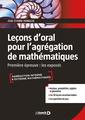 Couverture de l'ouvrage Lecons d'oral pour l'agregation de mathematiques