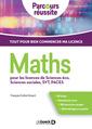 Couverture de l'ouvrage Maths pour les licences de sciences éco, sciences sociales, SVT, PACES