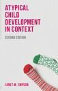 Couverture de l'ouvrage Atypical Child Development in Context