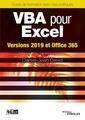 Couverture de l'ouvrage VBA pour Excel - Versions 2019 et Office 365