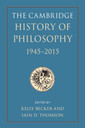 Couverture de l'ouvrage The Cambridge History of Philosophy, 1945-2015