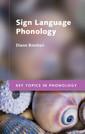 Couverture de l'ouvrage Sign Language Phonology