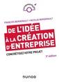 Couverture de l'ouvrage De l'idée à la création d'entreprise