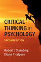 Couverture de l'ouvrage Critical Thinking in Psychology